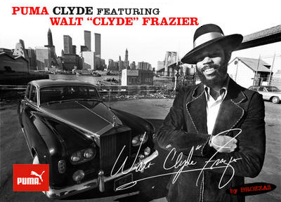 the Puma Clyde is back- Walt Clyde Frazier und Puma